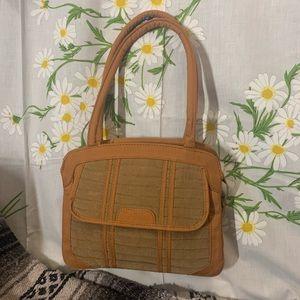 Vintage 1930s quilted structured shoulder bag